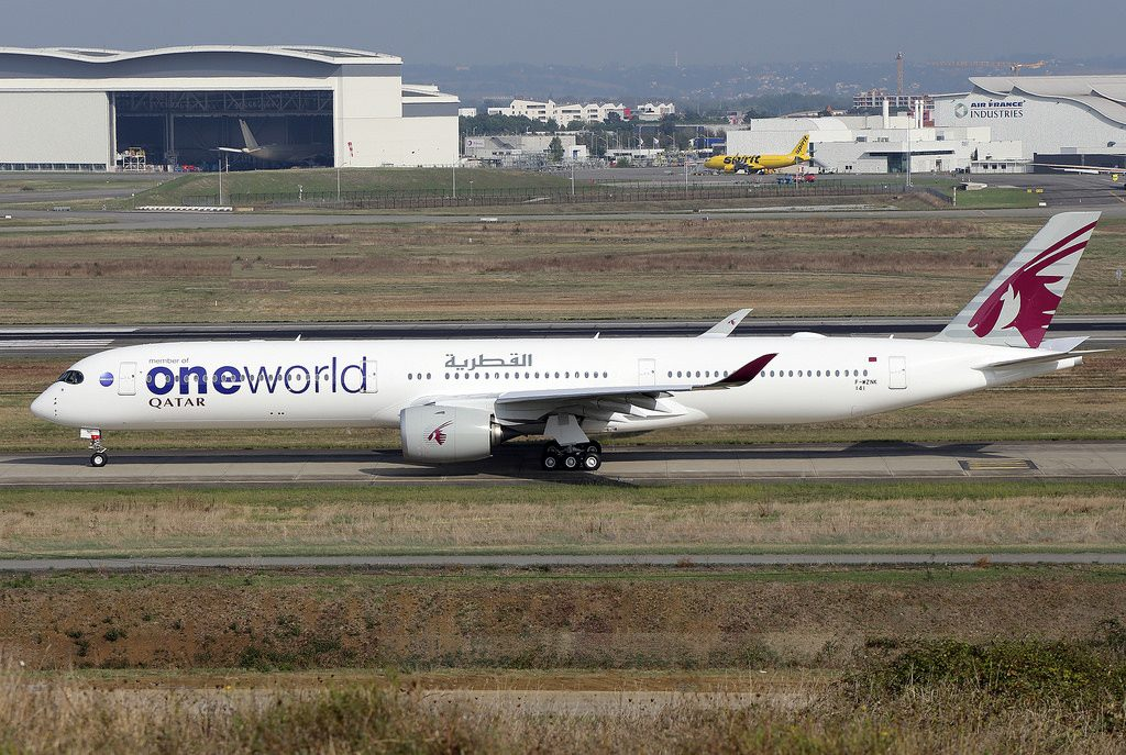 Airbus A350 1000 Qatar Airways One World livery colors A7 ANE