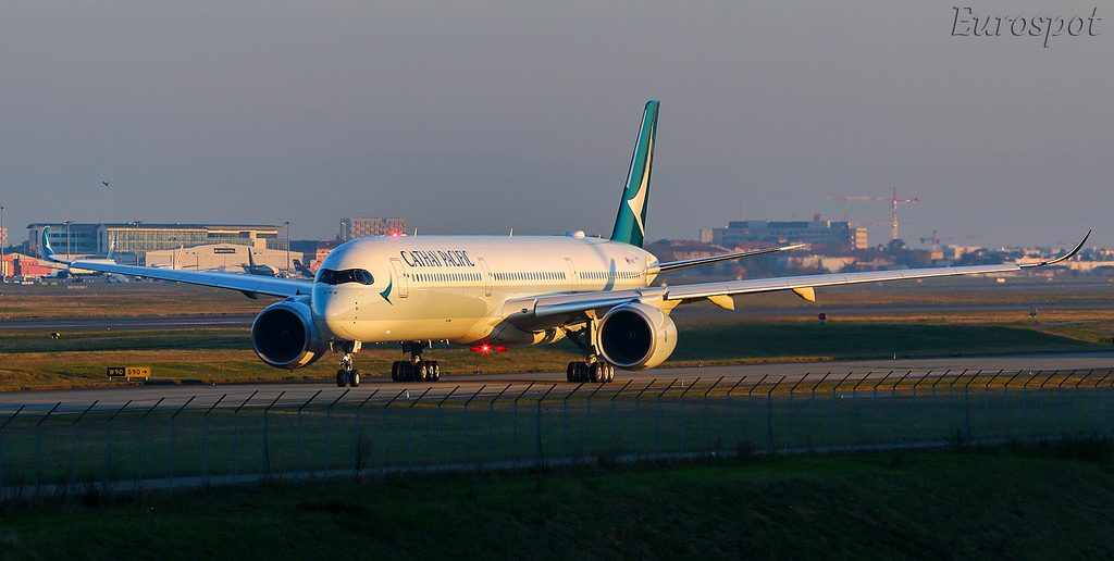 Airbus A350 1041 Cathay Pacific sn 233 B LXF Delivery flight TLS HKG @Eurospot