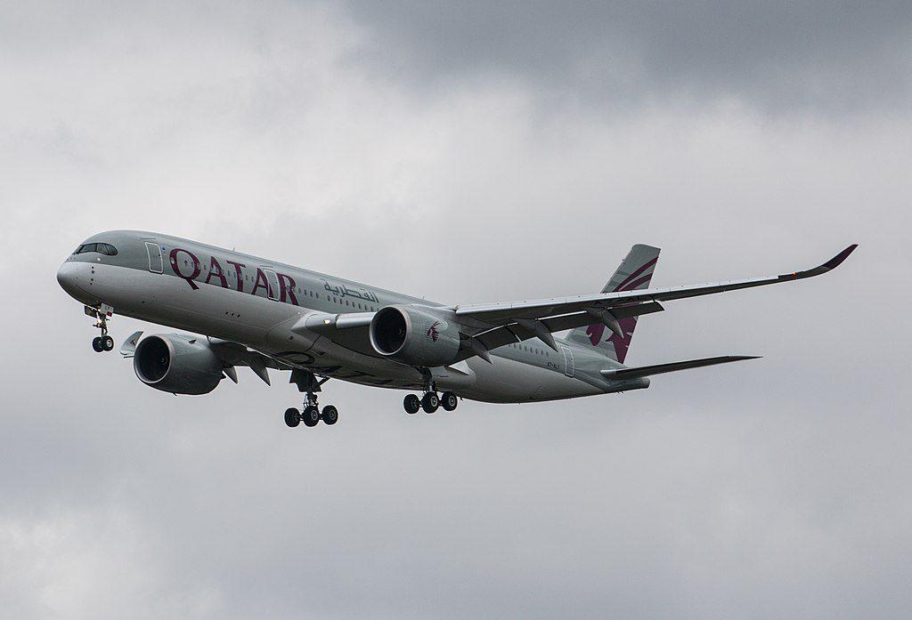 Airbus A350 900 Qatar Airways A7 ALY at Heathrow Airport London