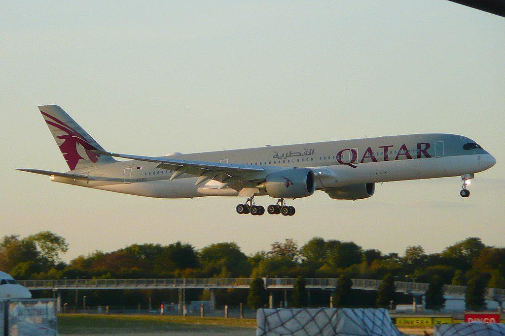 Airbus A350 900 Qatar Airways Fleet A7 ALU at London Heathrow Airport