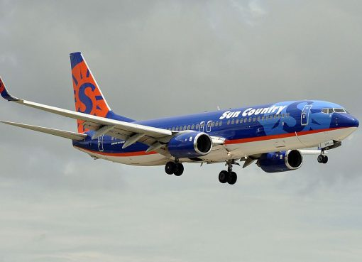Boeing 737 800 of Sun Country Airlines N804SY at Miami International Airport