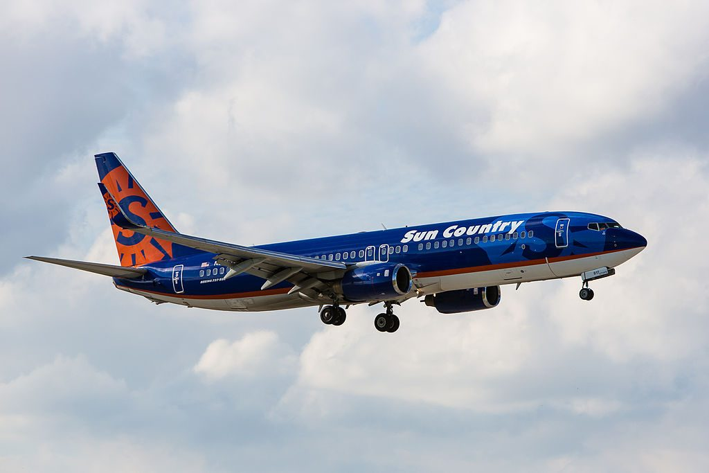 Boeing 737 800 of Sun Country Airlines N817SY at Miami International Airport