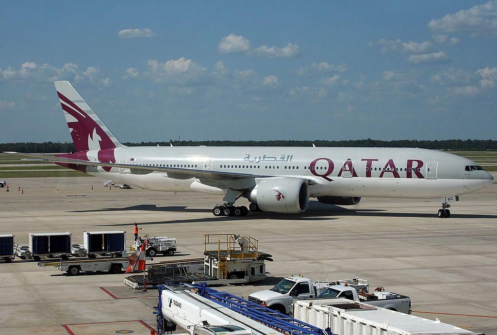 Boeing 777 2DZLR Qatar Airways A7 BBC at Houston George Bush Intercontinental Airport KIAH USA Texas