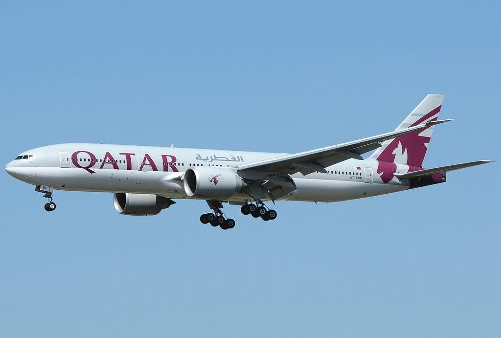 Boeing 777 2DZLR Qatar Airways Registration A7 BBB at Frankfurt Rhein Main Intl Airport EDDF Germany