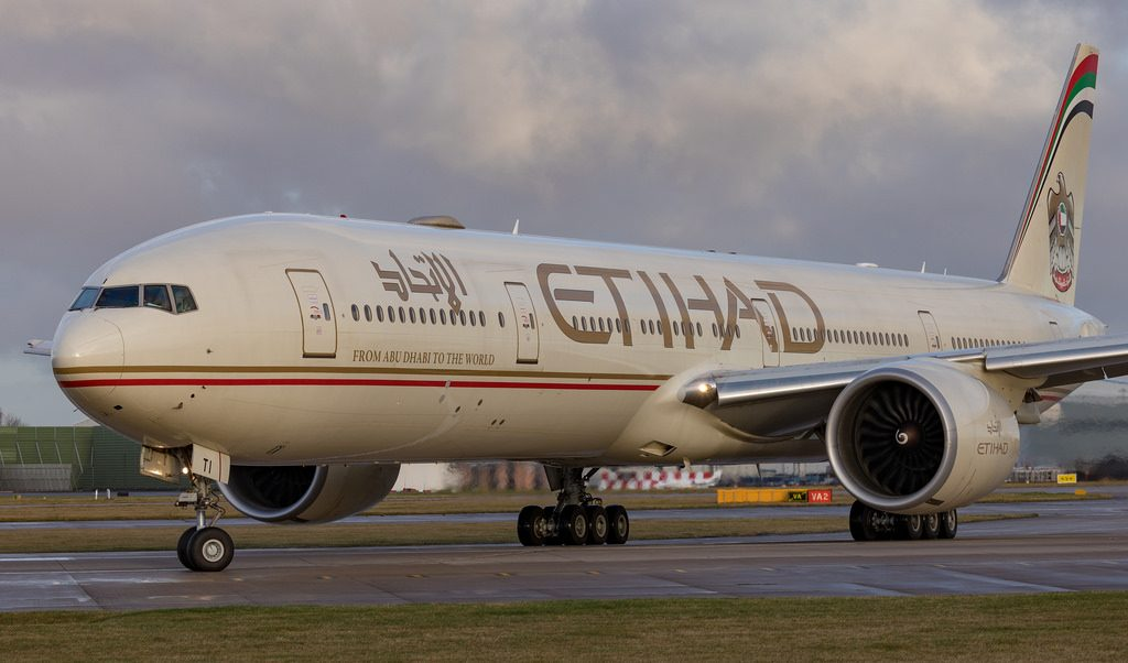 Boeing 777 300ER Etihad Airways A6 ETI at Manchester Airport