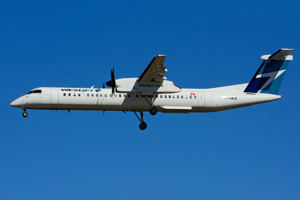 Bombardier De Havilland Canada Dash 8 Q400 C GWUE WestJet Encore Turboprop Aircraft Fleet Photos