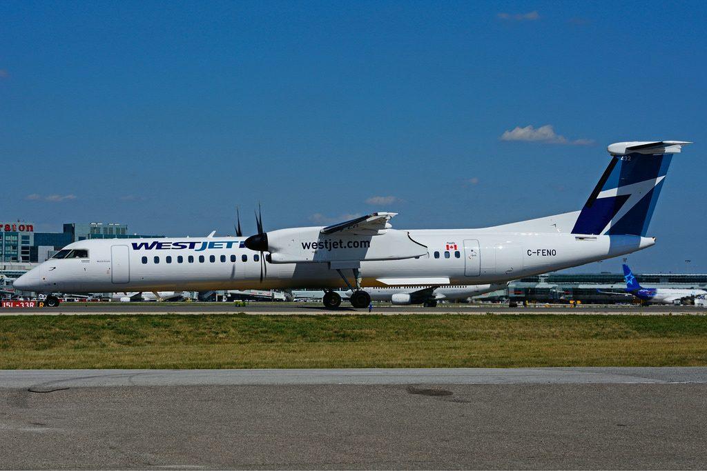 C FENO Bombardier DHC 8Q 402 WestJet Encore at Toronto Lester B. Pearson Airport YYZ