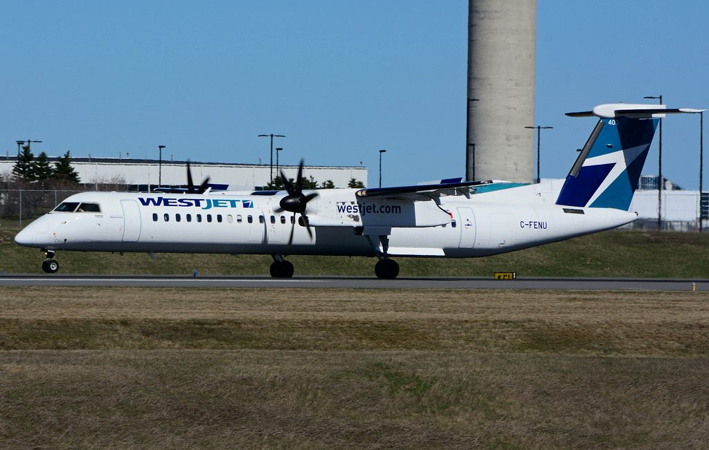 C FENU Bombardier DHC 8Q 402 Dash 8 WestJet Encore at Toronto Lester B. Pearson Airport YYZ