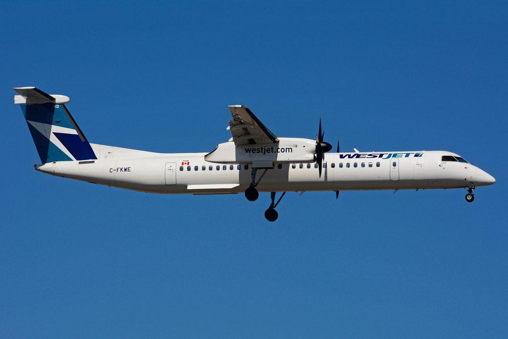 C FKWE Bombardier DHC 8Q 402 WestJet Encore at Toronto Lester B. Pearson Airport YYZ