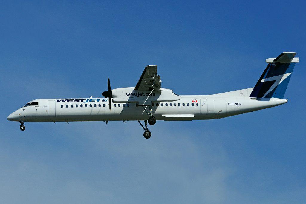 C FNEN Bombardier DHC 8Q 402 WestJet Encore at Toronto Lester B. Pearson Airport YYZ