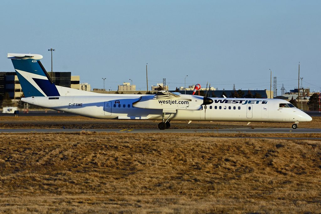 C FSWE Bombardier DHC 8Q 402 WestJet Encore at Toronto Lester B. Pearson Airport YYZ
