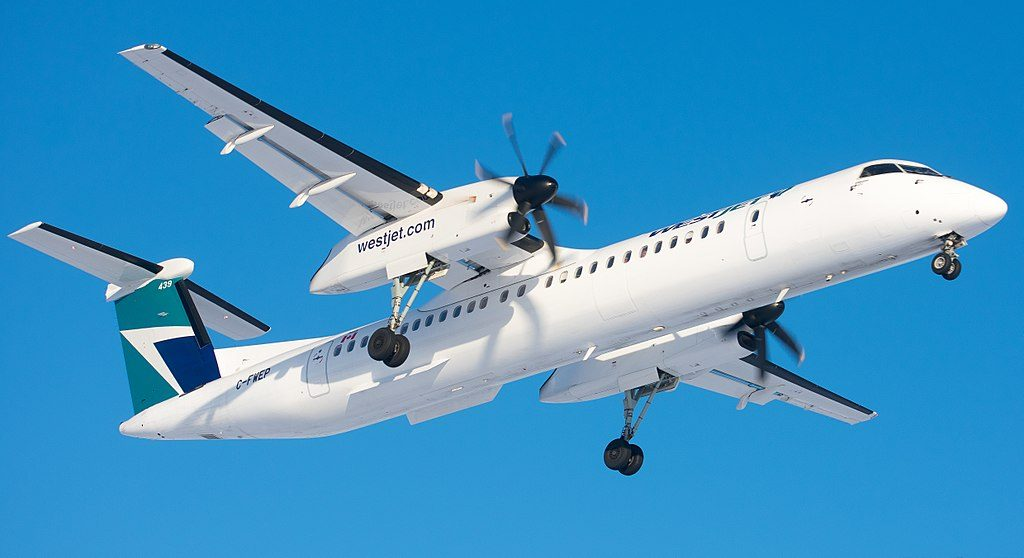 C FWEP Westjet Encore Bombardier Dash 8 Q400 Turboprop Aircraft Photos