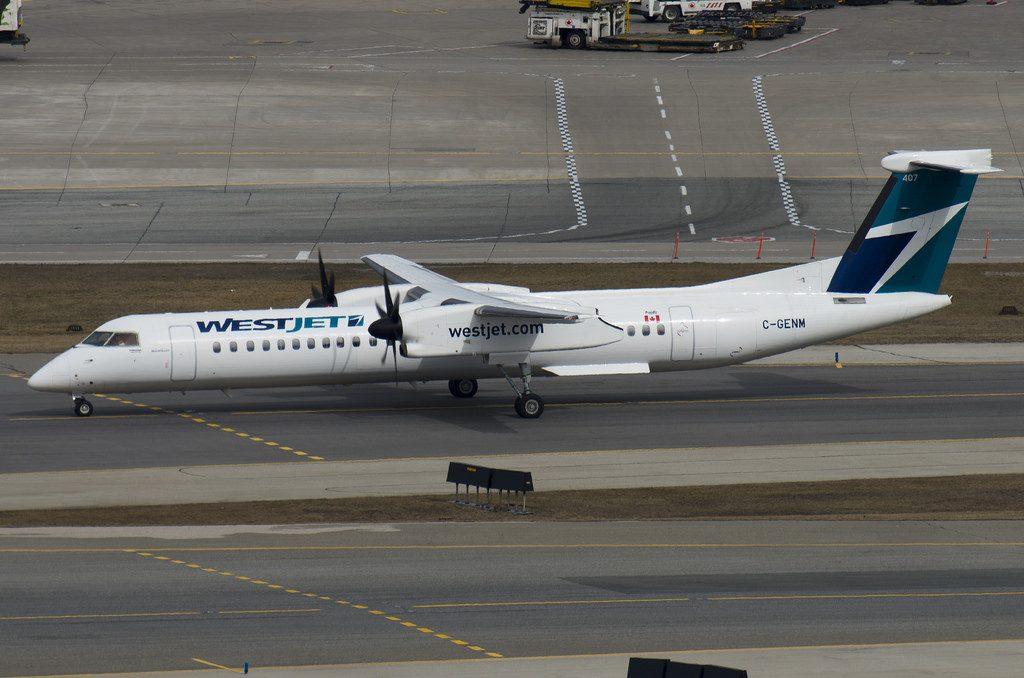 C GENM Bombardier DHC 8Q 402 4456 WestJet Encore at Toronto Pearson Airport