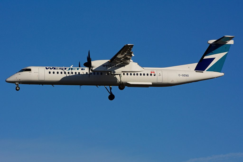 C GENO Bombardier DHC 8Q 402 WestJet Encore at Toronto Lester B. Pearson Airport YYZ
