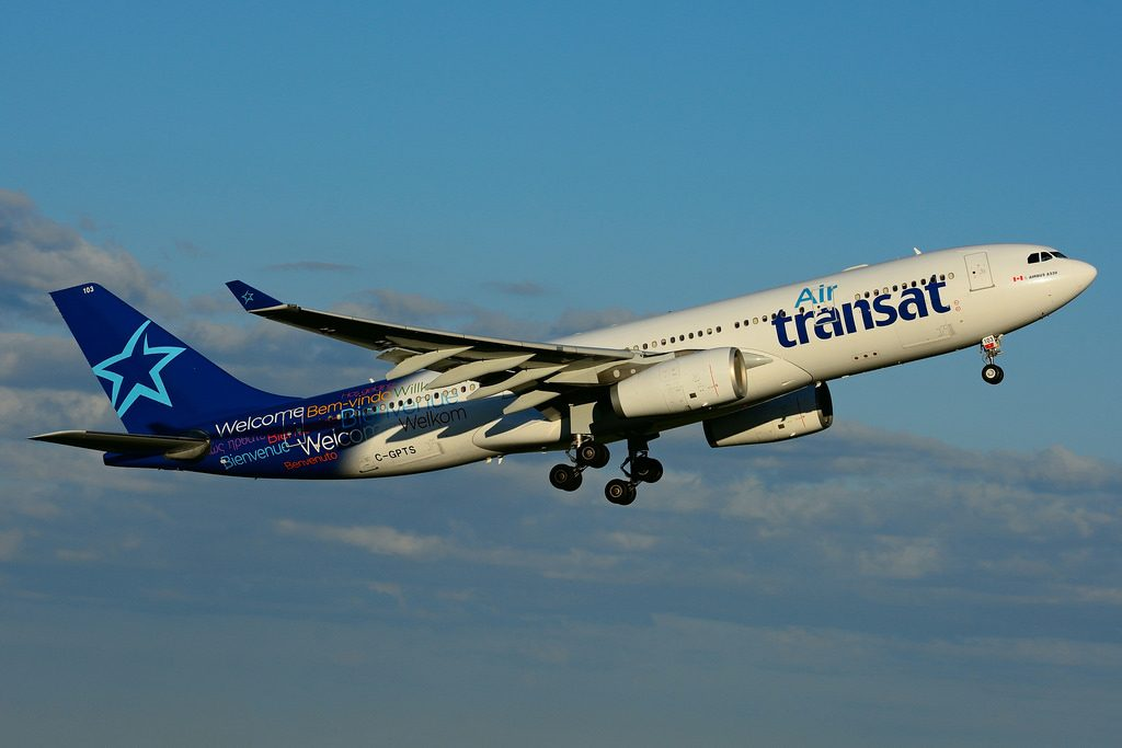 C GPTS Airbus A330 243 Air Transat leased from ILFC at Toronto Lester B. Pearson Airport YYZ