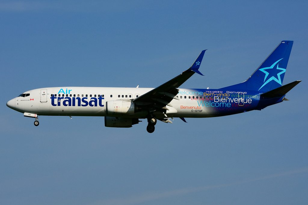 C GTQF Boeing 737 8Q8SW Air Transat at Toronto Lester B. Pearson Airport YYZ