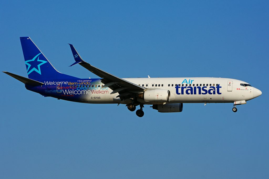 C GTQG Boeing 737 8Q8SW Air Transat leased from ILFC at Toronto Lester B. Pearson Airport YYZ