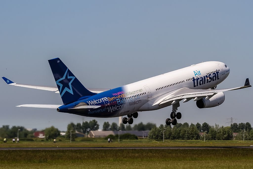 C GTSR Air Transat Airbus A330 243 departing to Toronto YYZ at Amsterdam AMS