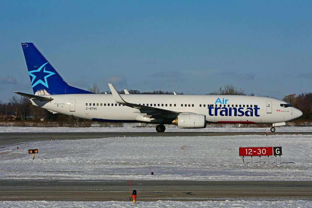 C GTVC Boeing 737 8K2W Air Transat leased from BBAM Transavia France at Hamilton International Airport YHM