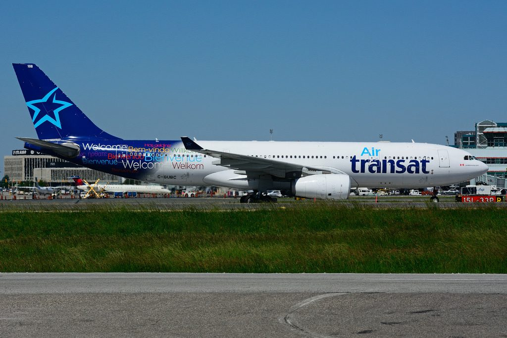 C GUBC Airbus A330 243 Air Transat leased from AIFS at Toronto Lester B. Pearson Airport YYZ