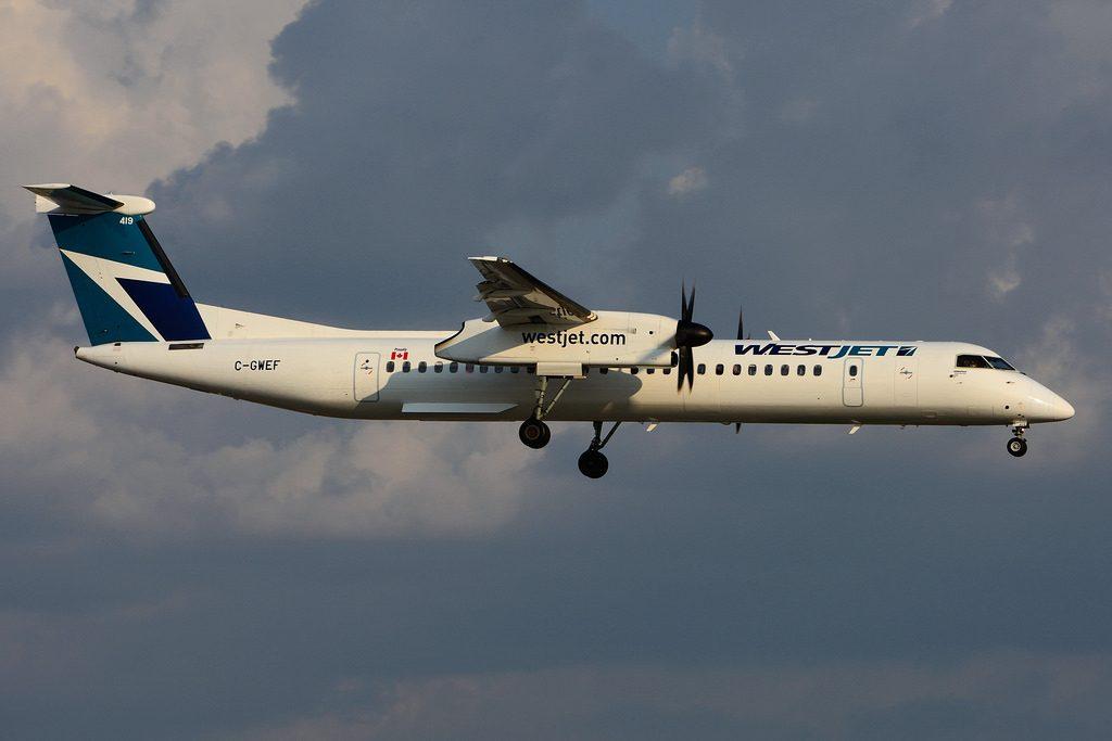 C GWEF Bombardier DHC 8Q 402 WestJet Encore at Toronto Lester B. Pearson Airport YYZ