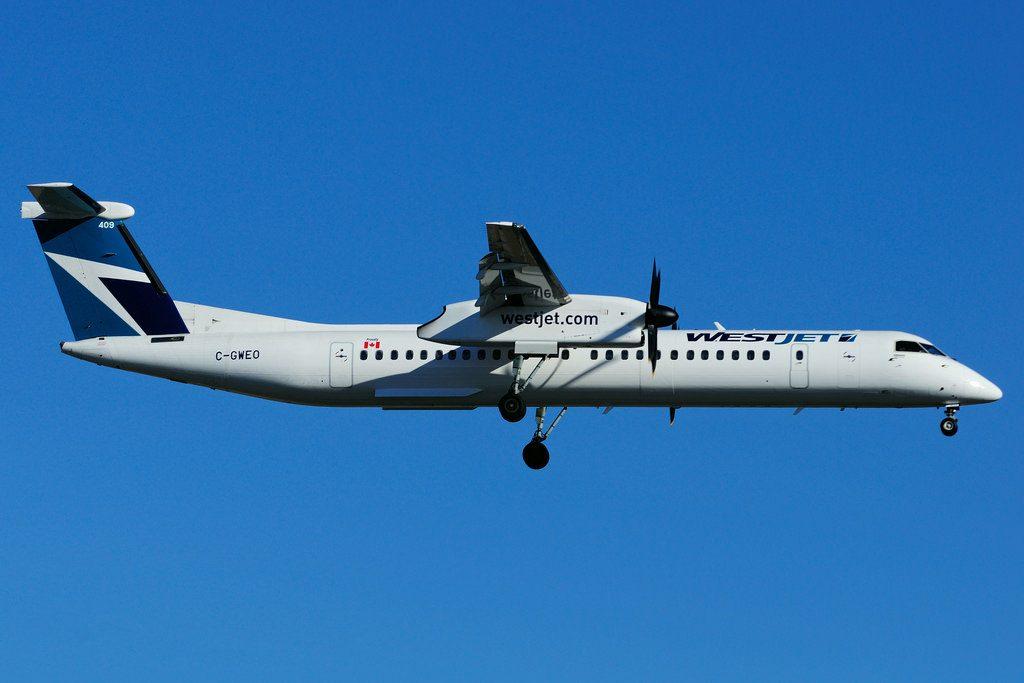 C GWEO Bombardier DHC 8Q 402 WestJet Encore at Toronto Lester B. Pearson Airport YYZ