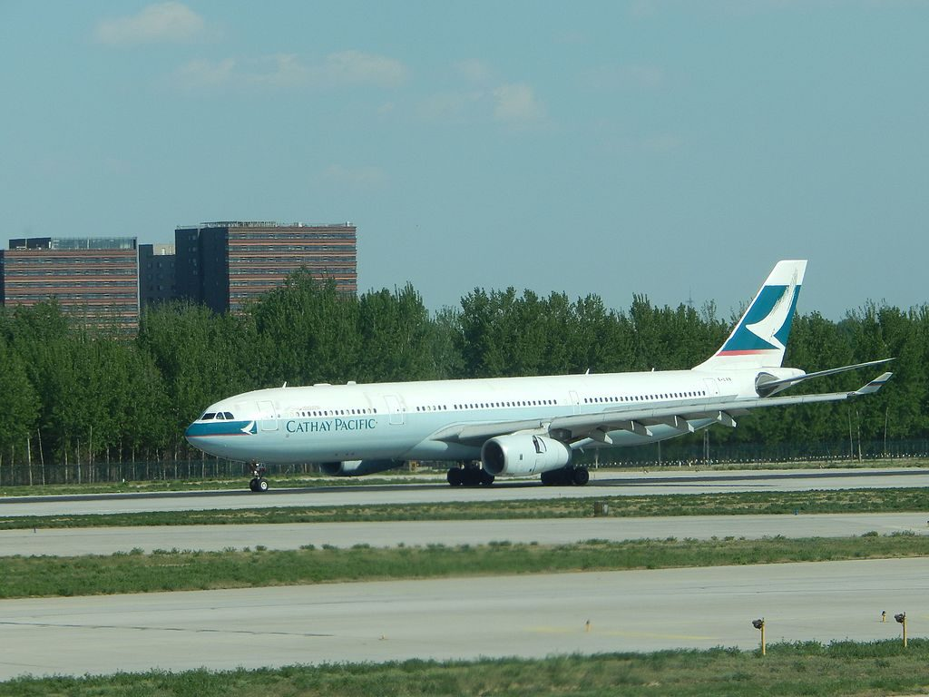 Cathay Pacific Airbus A330 300 B LAN at PEK Beijing Capital International Airport