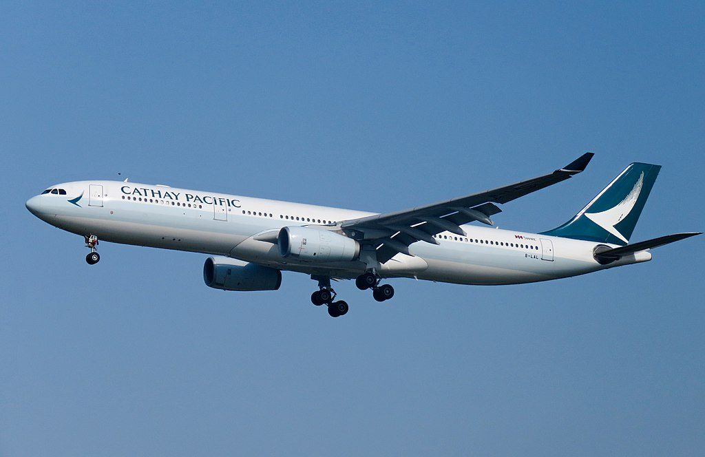 Cathay Pacific Aircraft Fleet B LAL Airbus A330 300 at Beijing Capital International Airport