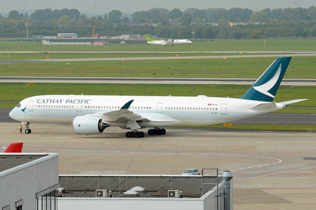 Cathay Pacific Airways Airbus A350 941 B LRP at Düsseldorf Airport