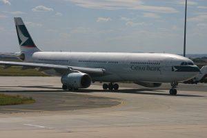 Cathay Pacific B HLP Airbus A330 300 at Melbourne Tullamarine Airport Australia
