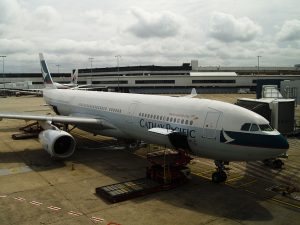 Cathay Pacific B HLR Airbus A330 300 CX100 to HKG at Kingsford Smith Sydney Airport