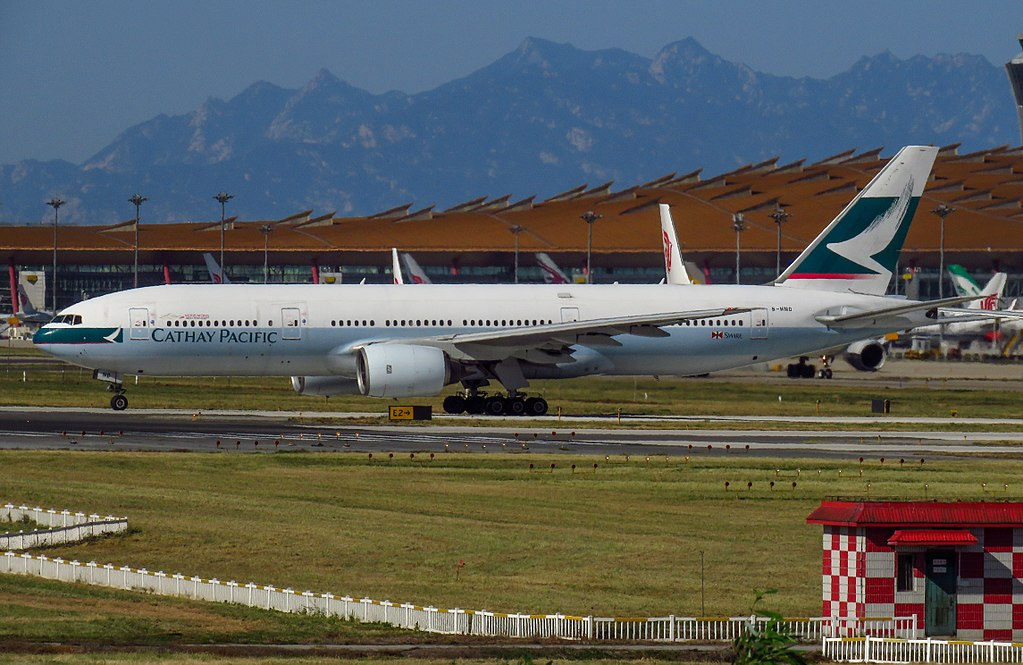 Cathay Pacific B HND Boeing 777 200 at Beijing Capital International Airport