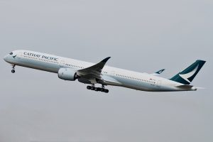 Cathay Pacific B LXF Airbus A350 1000 at Amsterdam Schiphol Airport