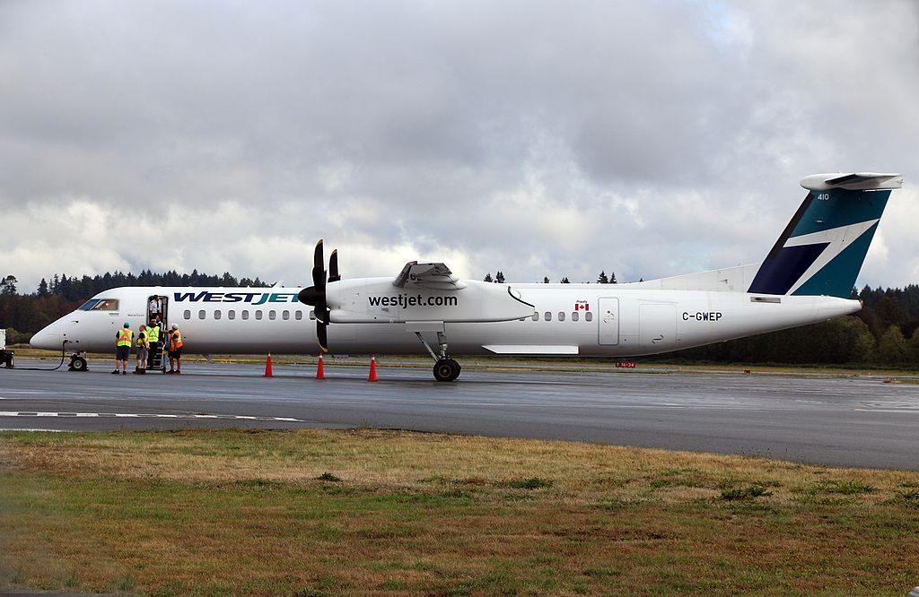 De Havilland Canada DHC 8 400 of WestJet Encore C GWEP