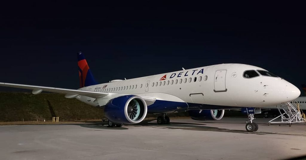 Delta Air Lines Fleet N102DU Airbus A200 100 Bombardier CSeries Aircraft Photos