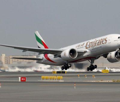 Emirates Boeing 777 200LR Registration A6 EWF at Dubai International DXB OMDB United Arab Emirates