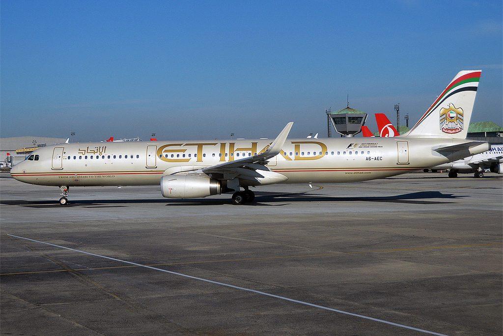 Etihad Airways A6 AEC Airbus A321 231 at Istanbul Atatürk Airport IST LTBA