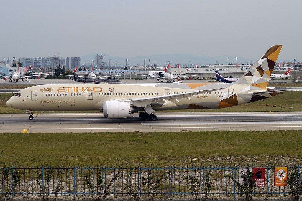 Etihad Airways A6 BLF Boeing 787 9 Dreamliner at Istanbul Atatürk Airport