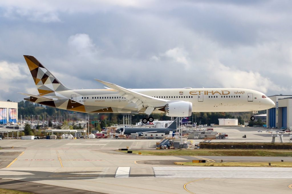 Etihad Airways A6 BLR Boeing 787 9 Dreamliner