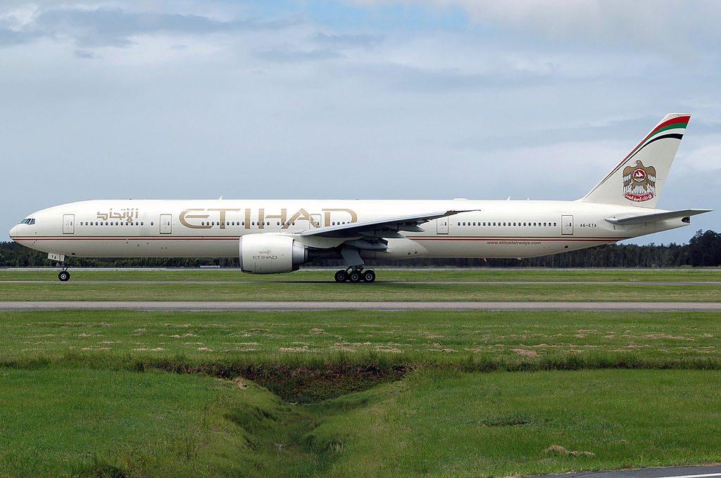 Etihad Airways A6 ETA Boeing 777 300ER at Brisbane Airport