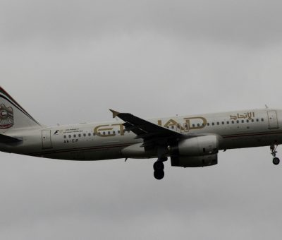 Etihad Airways Airbus A320 200 A6 EIP at Athens Eleftherios Venizelos airport