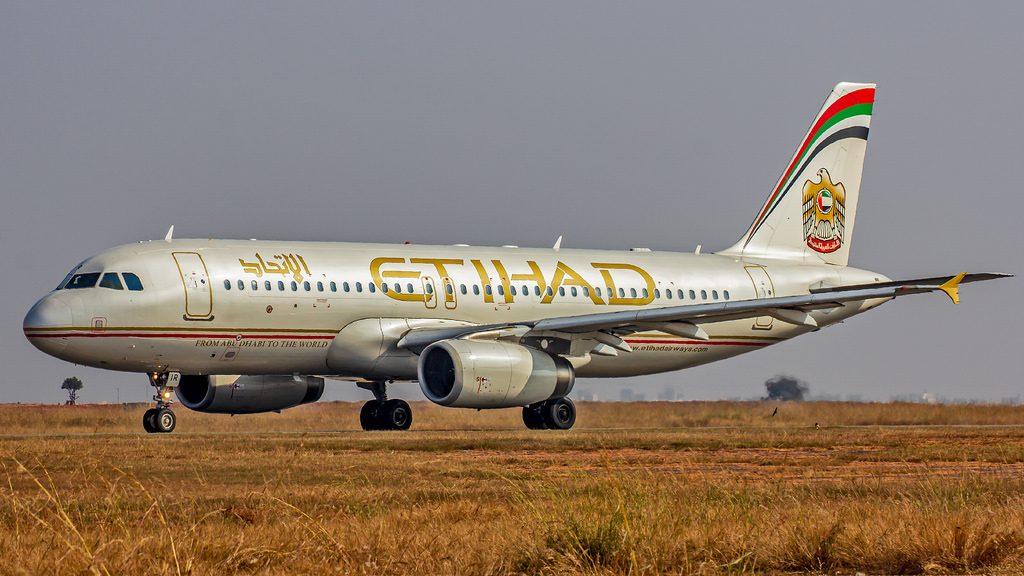 Etihad Airways Airbus A320 200 A6 EIR at Bangalore Kempegowda International Airport Bengaluru