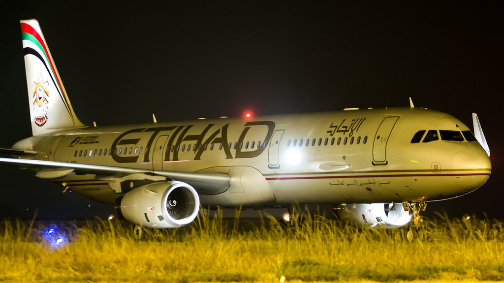 Etihad Airways Airbus A321 200 A6 AEA at Bangalore Kempegowda International Airport IATA BLR ICAO VOBL