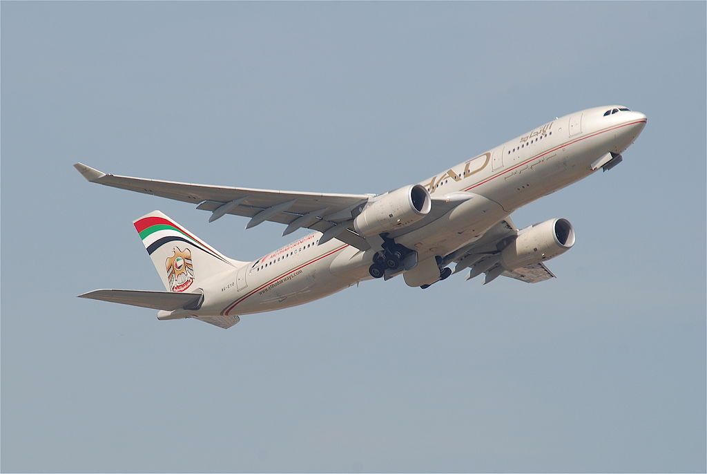 Etihad Airways Airbus A330 200 A6 EYO departing at Frankfurt Airport