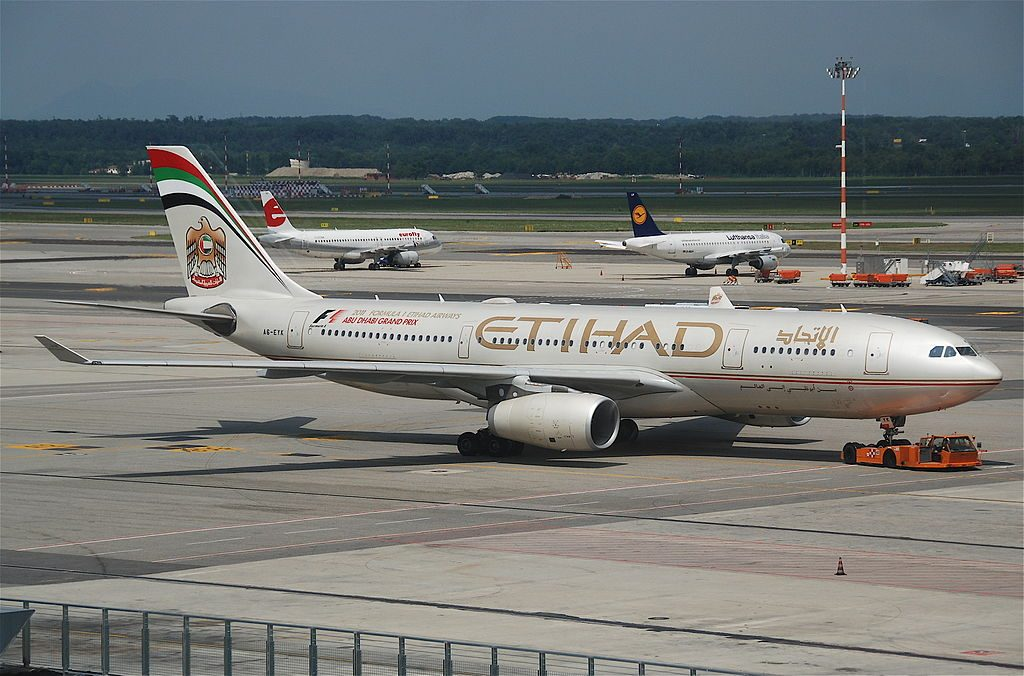 Etihad Airways Airbus A330 243 A6 EYK at Milan Malpensa Airport MXP