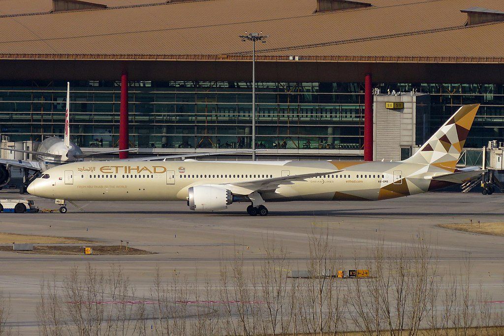 Etihad Airways Boeing 787 10 Dreamliner A6 BMB at Beijing Capital International Airport