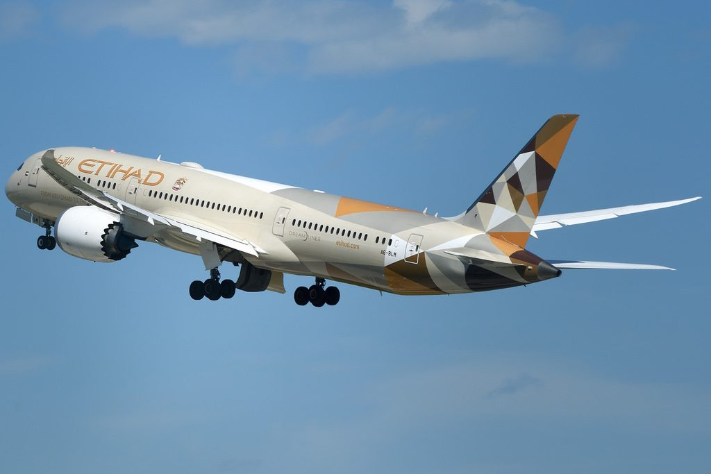 Etihad Airways Boeing 787 9 Dreamliner A6 BLM Zurich Airport