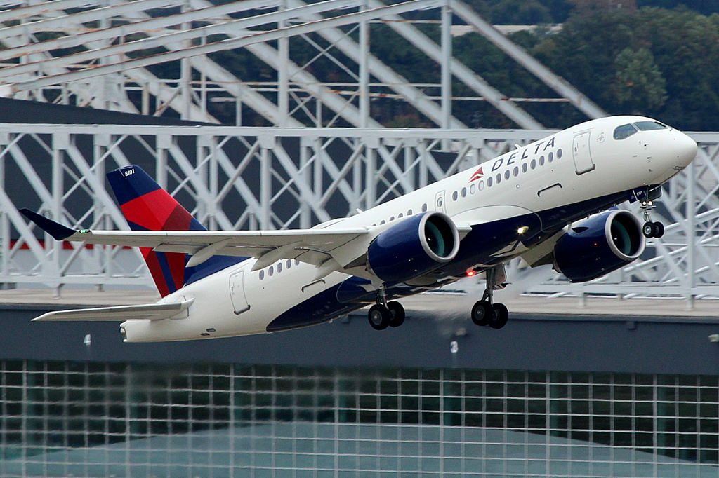 N101DU Delta Air Lines Aircraft Fleet Airbus A220 100 Bombardier CS100 Photos