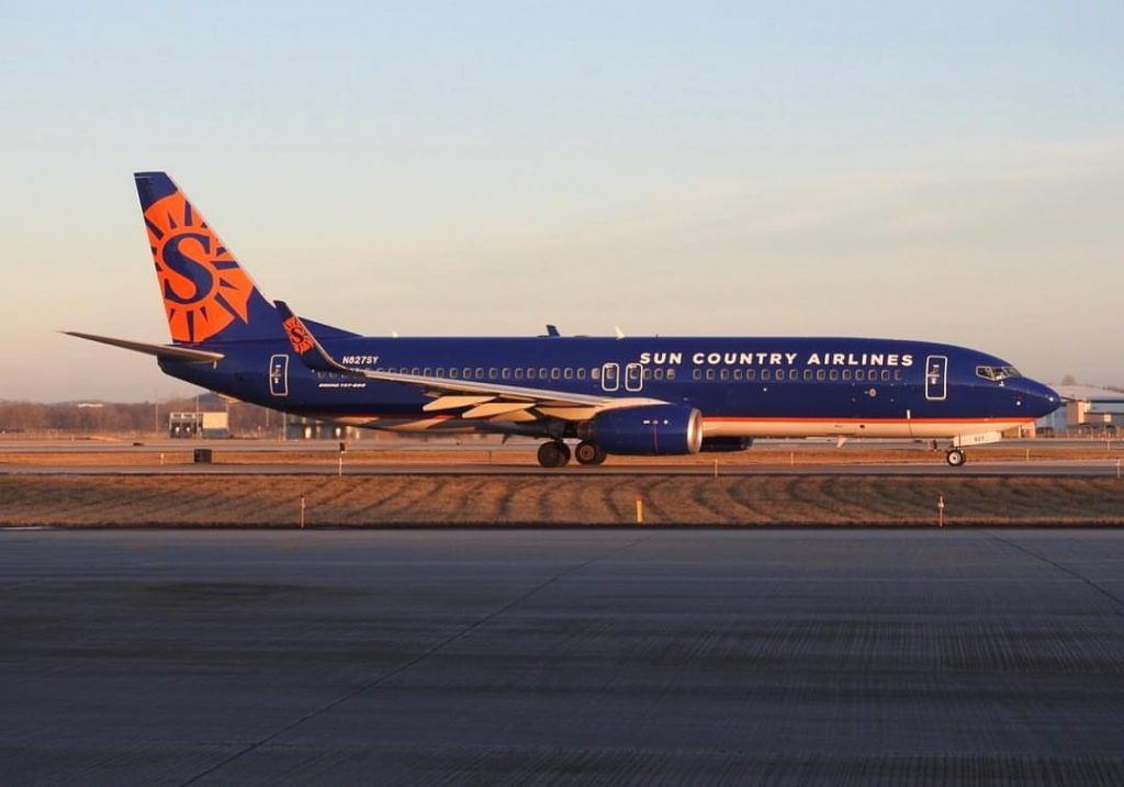 N827SY Boeing 737 800 Sun Country Airlines Aircraft Fleet Photos