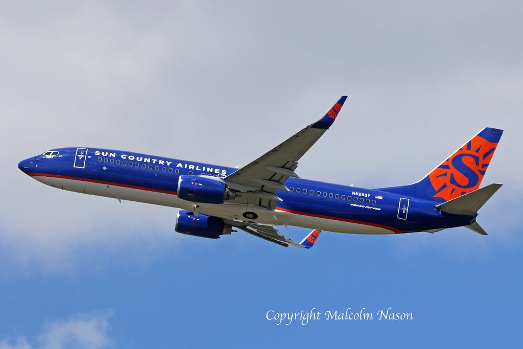 N829SY Boeing 737 800 Sun Country Airlines Fleet ex Turkish Airlines @Malcolm Nason